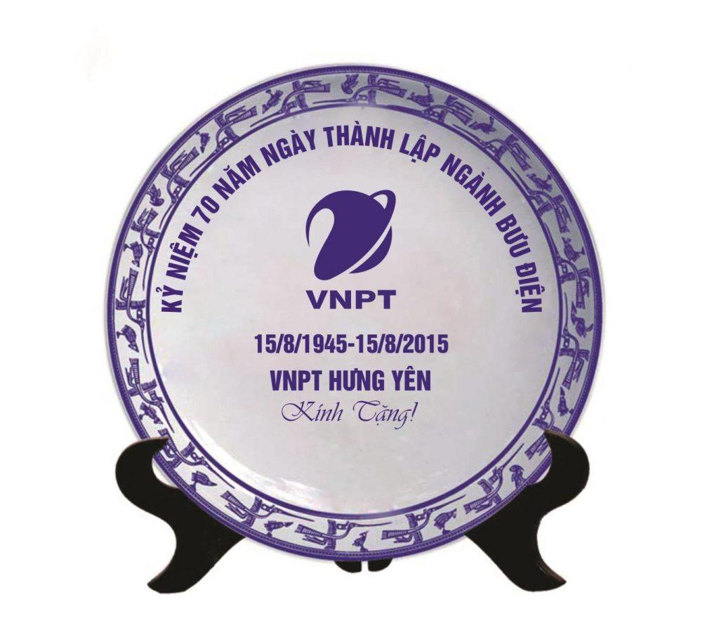 �ĩa trang trí gốm sứ in logo lưu niệm