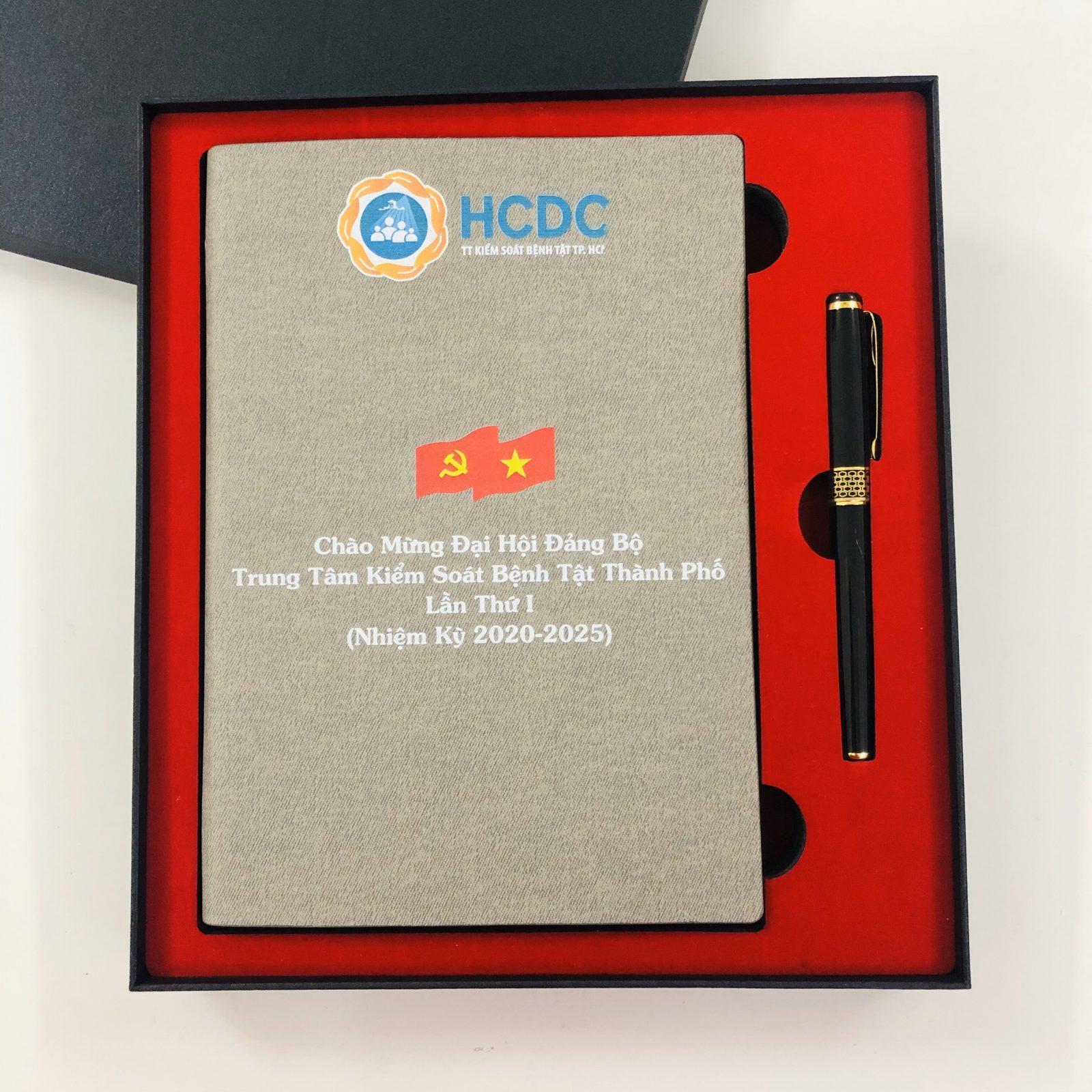 Bộ giftset quà tặng in logo �ại Hội �ảng